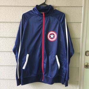 3/$15 Marvel Captain America Blue & Red Jacket